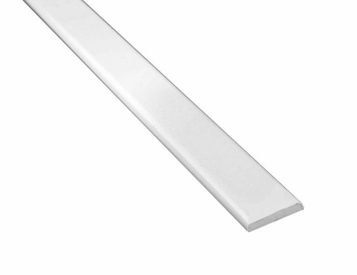White 40mm window door plastic upvc skirting architrave trim pack of 10 ebay Plastic molding for exterior doors