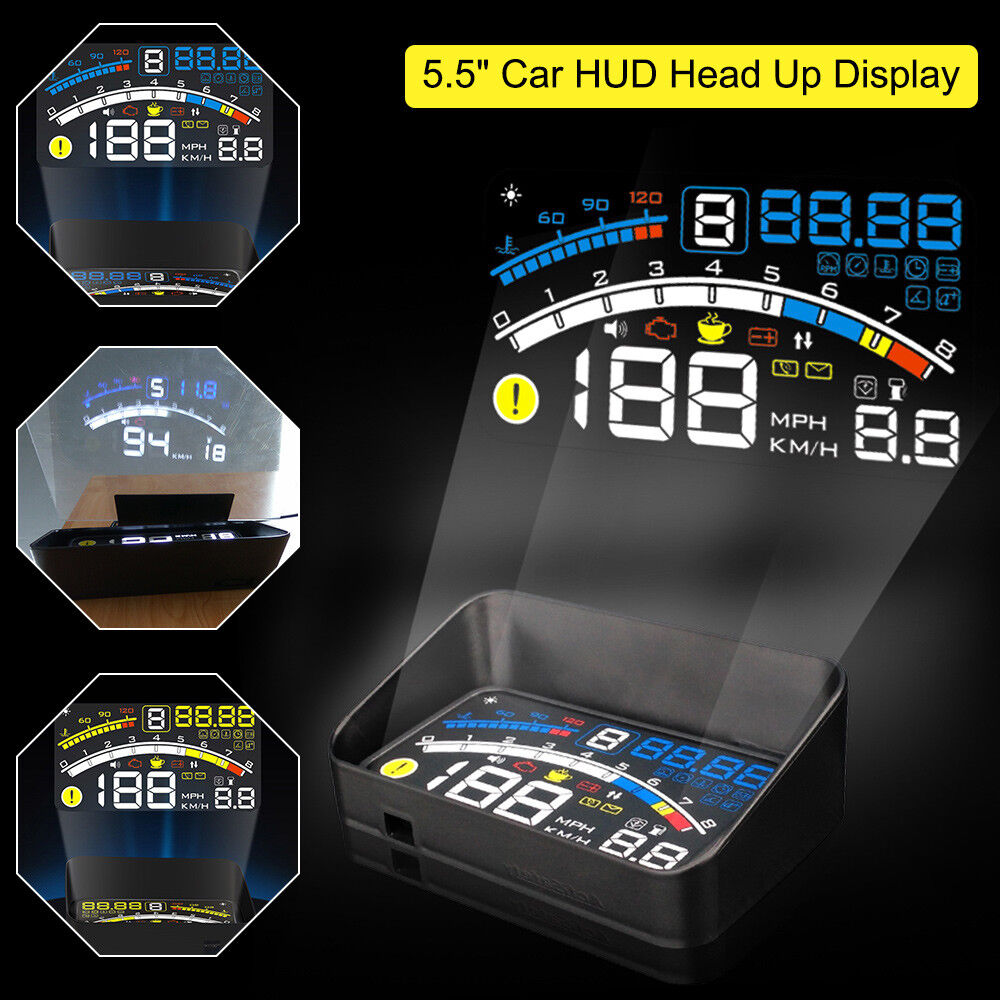 5 5 car obd2 ii hud head up display fuel consumption. Black Bedroom Furniture Sets. Home Design Ideas
