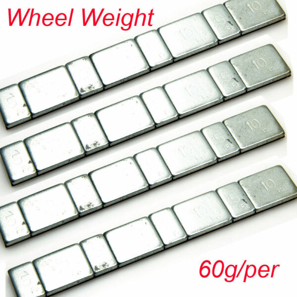 60g Aluminum Wheel Weights Stick-on Adhesive Tape For SCX10 1/10 RC Crawler