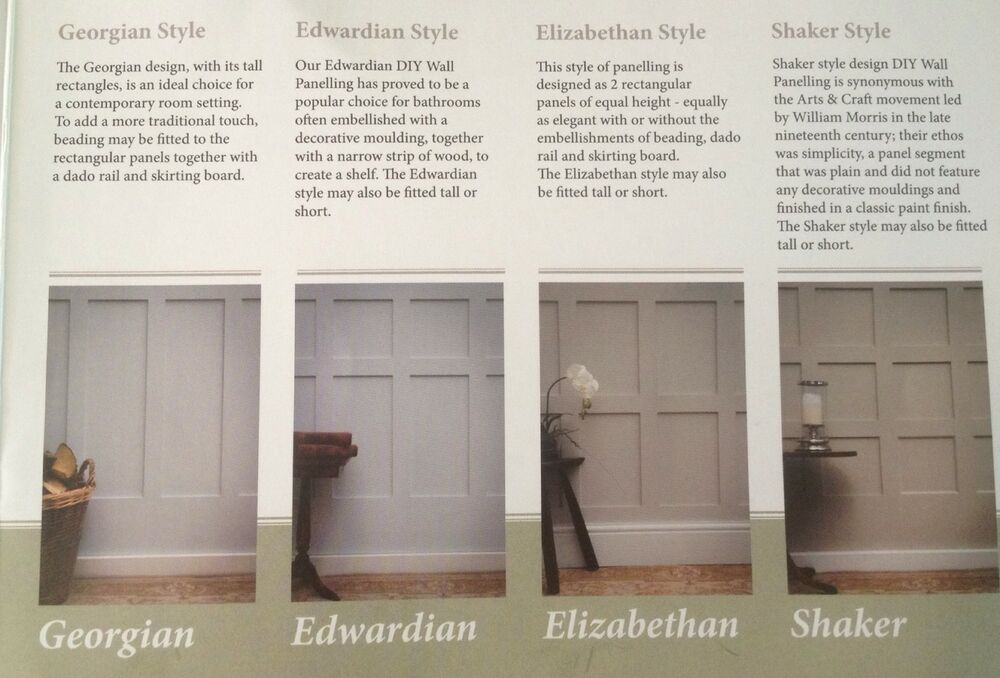 Moisture Resistant Wall Cladding Panels Shaker Georgian You Choose Made To Order 644221790625 Ebay