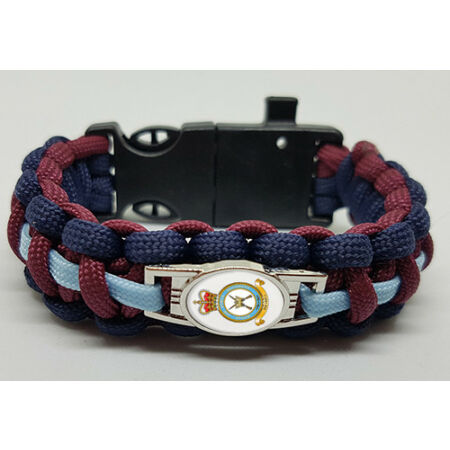 img-Royal Air Force Regiment (RAFR) Badged Survival Bracelet