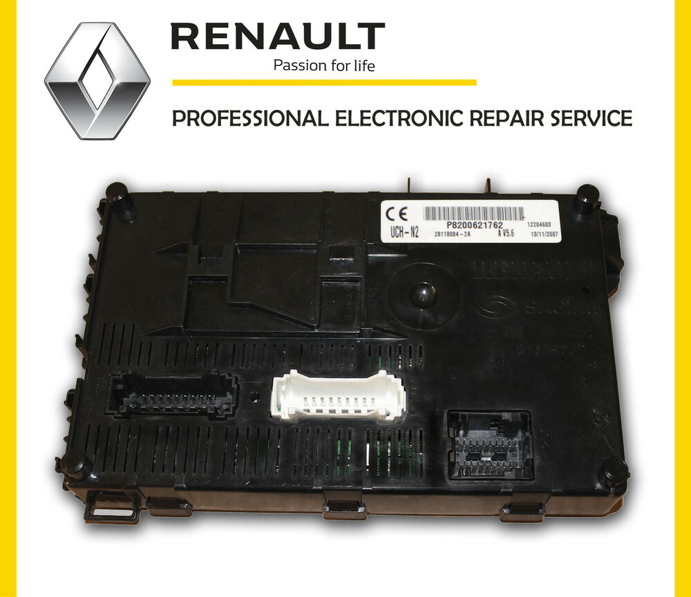 renault clio bcm body control module repair service uch bsi multi timer module ebay. Black Bedroom Furniture Sets. Home Design Ideas