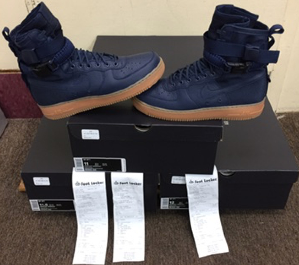 best service 8d267 1f2cd Nike Air Force 1 SF High Midnight Navy Gum Bottom 864024-400 AUTHENTIC  7.5~15   eBay