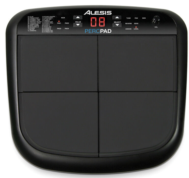alesis perc pad drum percussion compact four pad machine sample sound ebay. Black Bedroom Furniture Sets. Home Design Ideas