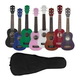 Kyпить New 8 Colors 4 Strings Rosewood Fingerboard Basswood Soprano Ukulele with Bag на еВаy.соm