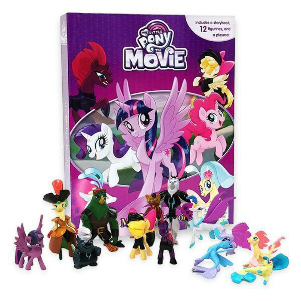 My Little Pony The Movie Set Of 12 Figures & My Busy Book & Map 9782764334508