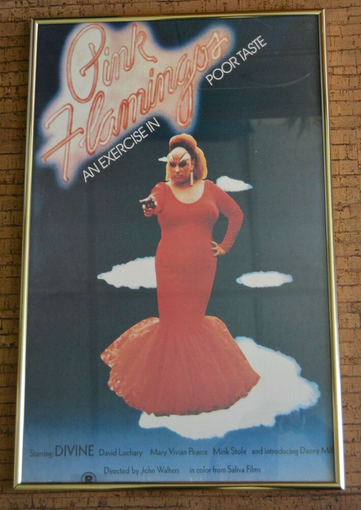 Details about Divine PERSONAL John Waters PINK FLAMINGOS poster OWNED  Transvestite COA Mother