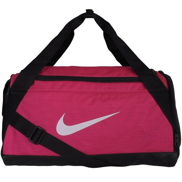 015d9ede6056 Details about Nike Brasilia 6 Duffle Bag Small sport bag pink black  training bag NEW Size S
