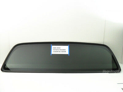Fits 2005-2020 Toyota Tacoma  Rear Window Back Glass Stationary Dark Tinted