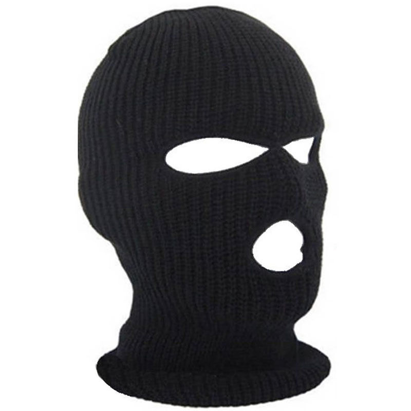Details about 3 Hole Ski Mask Balaclava Black Knit Hat Face Shield Beanie  Cap Snow Warm Winter fcd85b40cc9