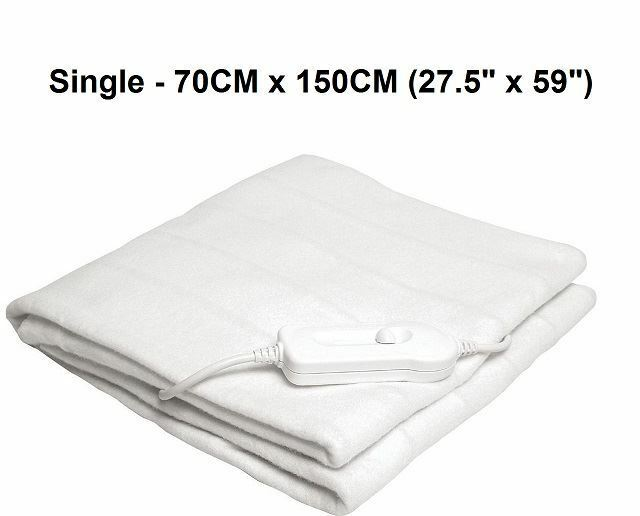 Details About New Single 70cm X 150cm Electric Warm Night Blanket Under Bed Bedding Heat Hot
