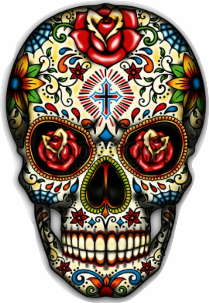 Sugar Skull Vinyl Sticker Decal Mexican Spanish Day Of The -7243