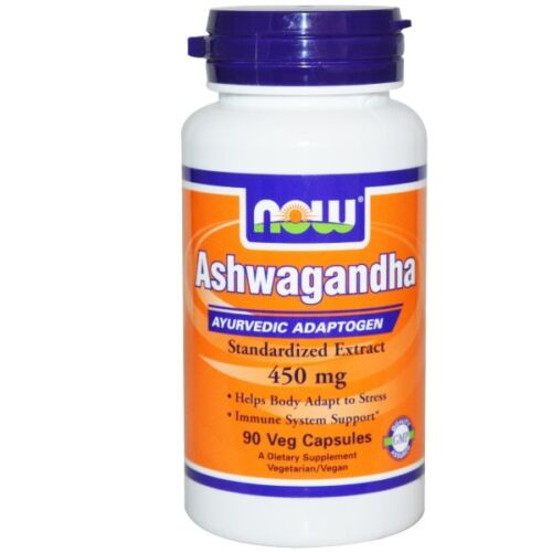 Now Foods, Ashwagandha, 450 mg, 90 Veggie Caps, Helps Body Adapt to Stress