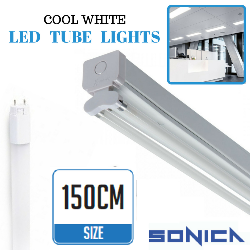 5ft fluorescent light fittings t8 led tube light twin batten 5ft 150cm retrofit ebay