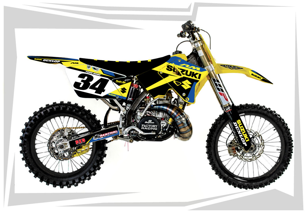 2001 2012 rm 125 250 graphics rm125 rm250 suzuki motocross dirt bike mx decals b ebay. Black Bedroom Furniture Sets. Home Design Ideas