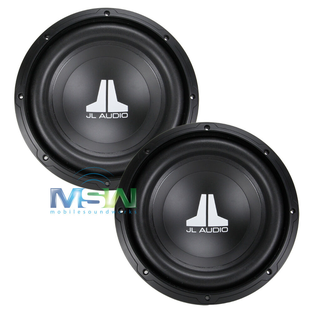 2 jl audio 10w0v3 4 10 w0v3 4 ohm subs subwoofers sub. Black Bedroom Furniture Sets. Home Design Ideas