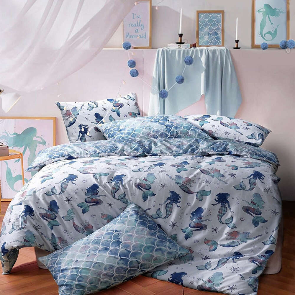 mermaid duvet cover quilt cover bedding set single double king by pieridae