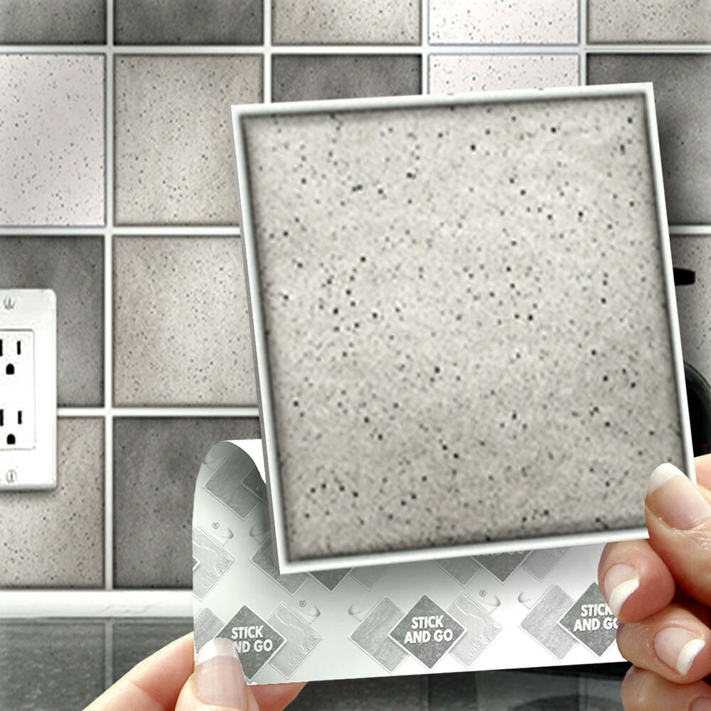 self adhesive kitchen wall tiles 18 grey speckle stick on self adhesive wall tile stickers 7884