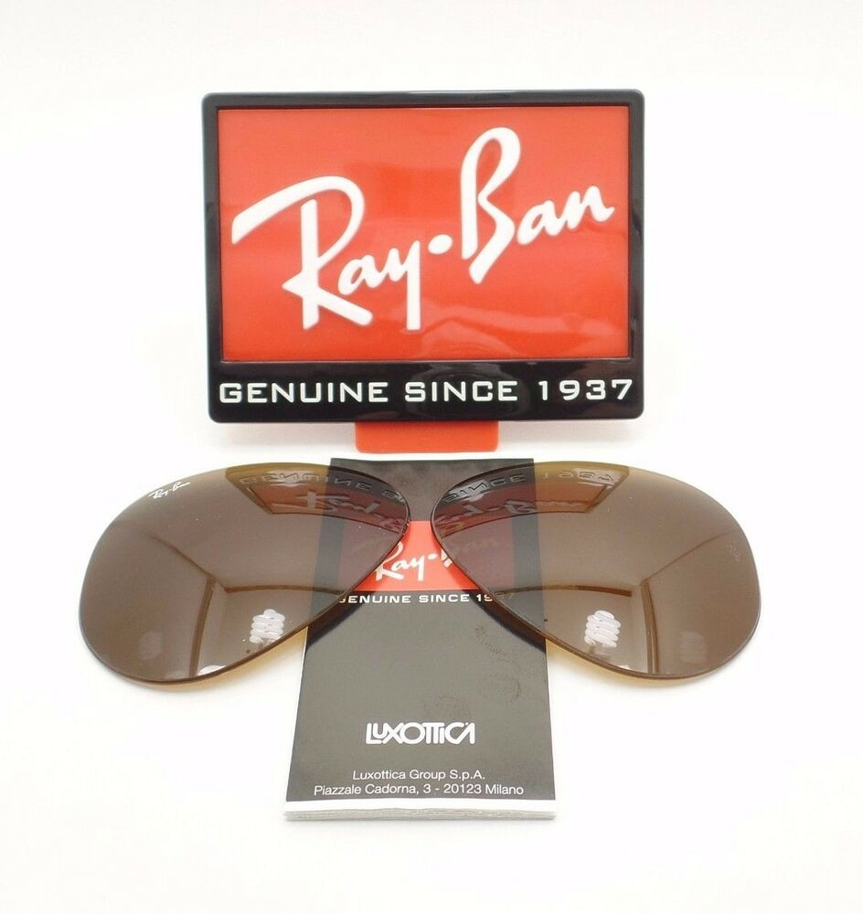 d523cd2330 Details about RAY BAN REPLACEMENT LENSES AVIATOR 3025 B15 or Polar Brown  Crystal New Authentic