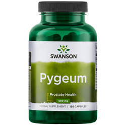 Swanson Pygeum Bark and Extract Capsules, 500 mg, 120 Count
