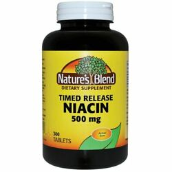Nature's Blend Timed Release Niacin 500 mg 300 Tabs