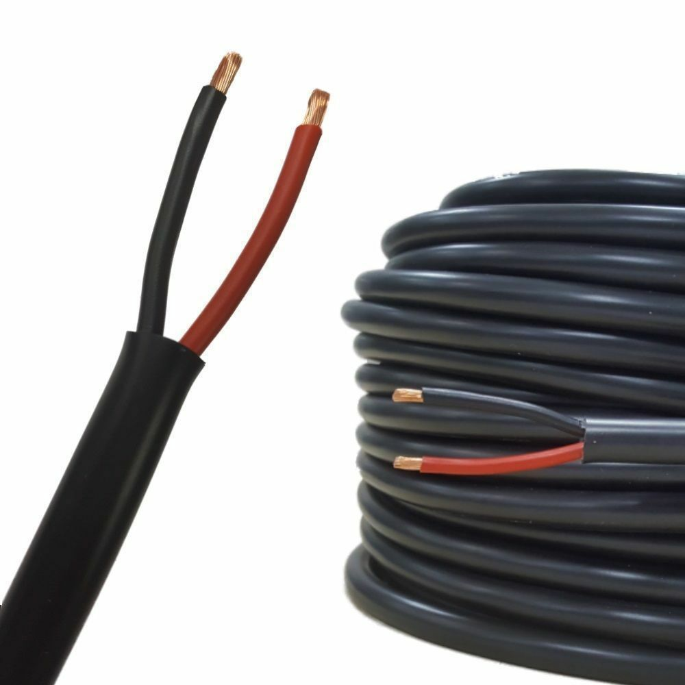 Terrific 10M 25Amp 2 Core Round Twin Automotive Cable Wire Auto Wiring Loom Wiring 101 Nizathateforg