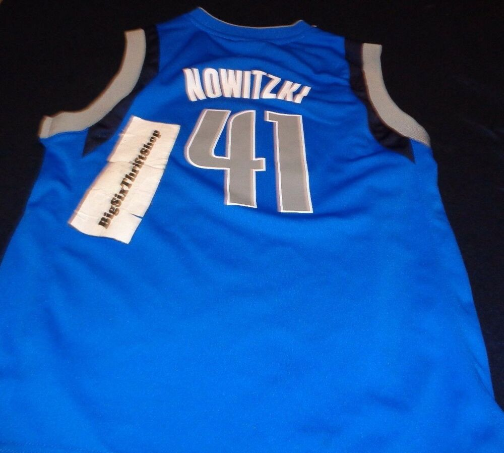 9f57963b3 Dallas Mavericks Dirk Nowitzki Adidas Mavs NBA Youth Medium Basketball  Jersey