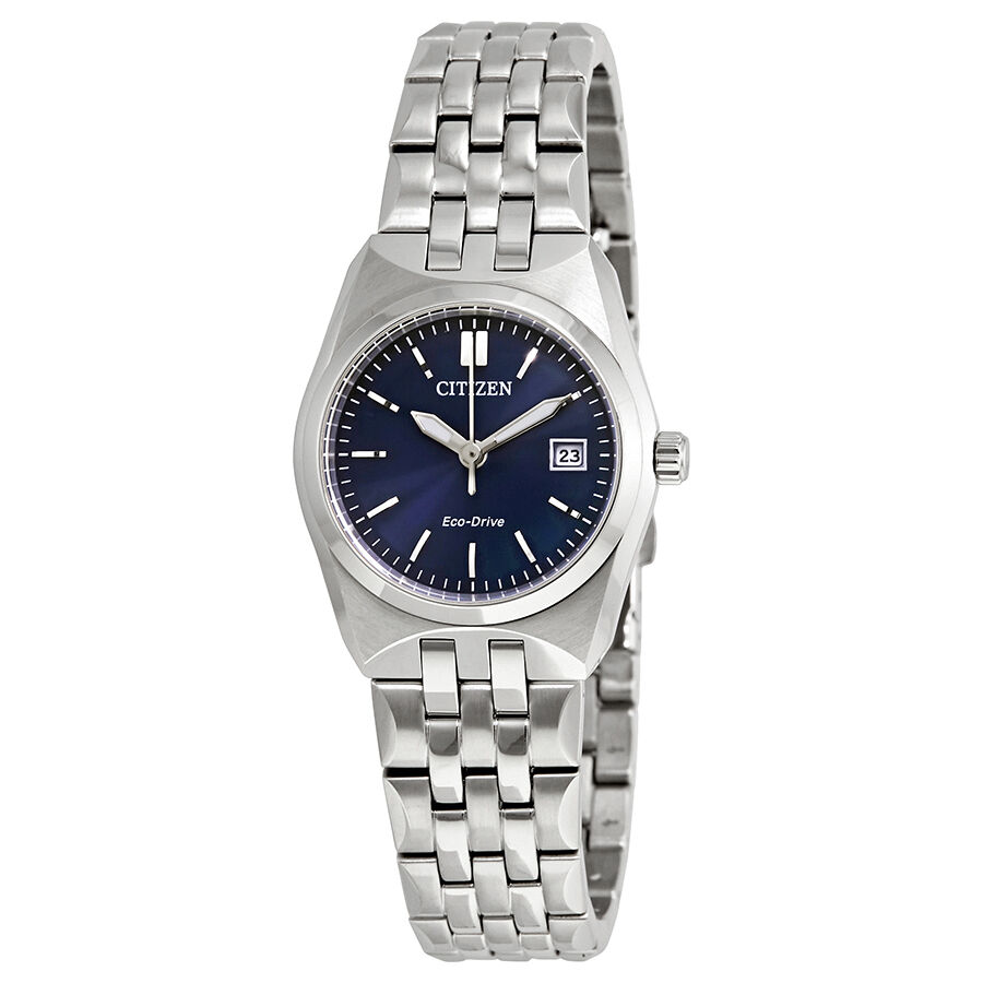 Ladies Corso Eco-Drive Blue Dial Stainless Steel Ladies Watch EW2290-54L |  eBay