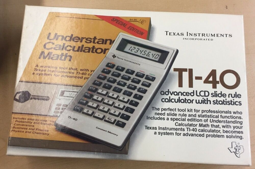 TEXAS INSTRUMENTS CALCULATOR MATH TI-40 BRAND NEW IN BOX!!! VINTAGE ...