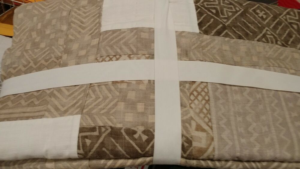 Pottery Barn Pauline Boyd Patchwork Hearth Hand Made Quilt