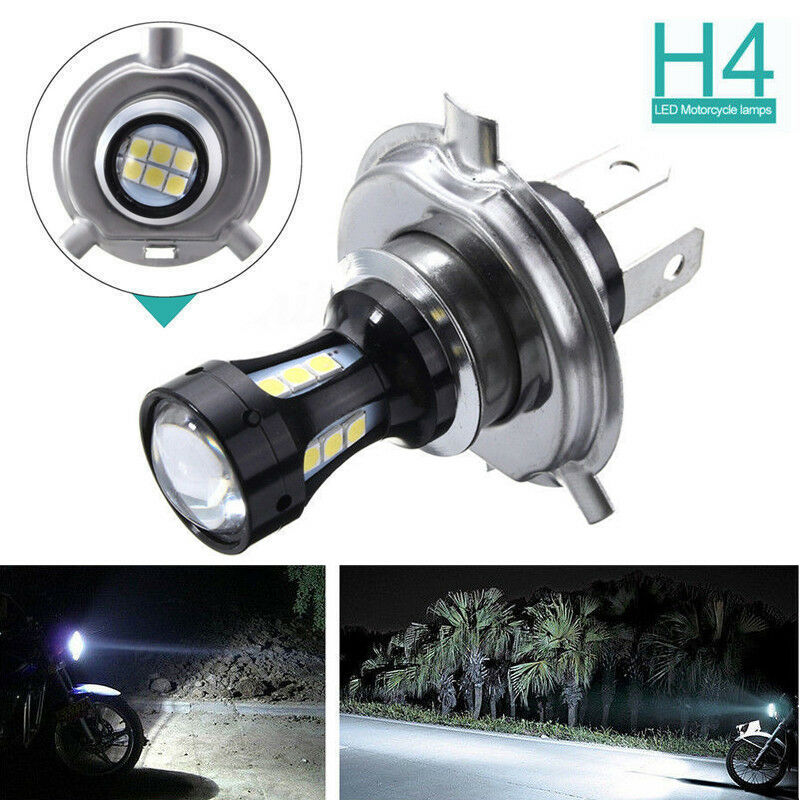 h4 motorcycle 3030 led hi lo beam headlight head light lamp bulb 6500k white 12v ebay