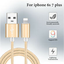 1M/3.2FT USD cable For iPhone 6 6S 5 5S 7 plus charge line Braided Nylon cord