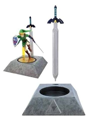 Legend of Zelda MUSICAL MASTER SWORD STAND *Amiibo Link not included* BOX=DMG