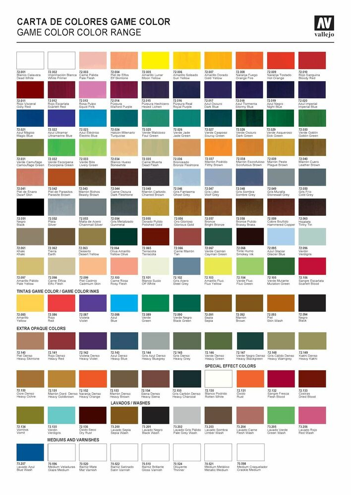 Pick Any 10 Vallejo Game Color Paints Inks Washes Or Mediums Ebay