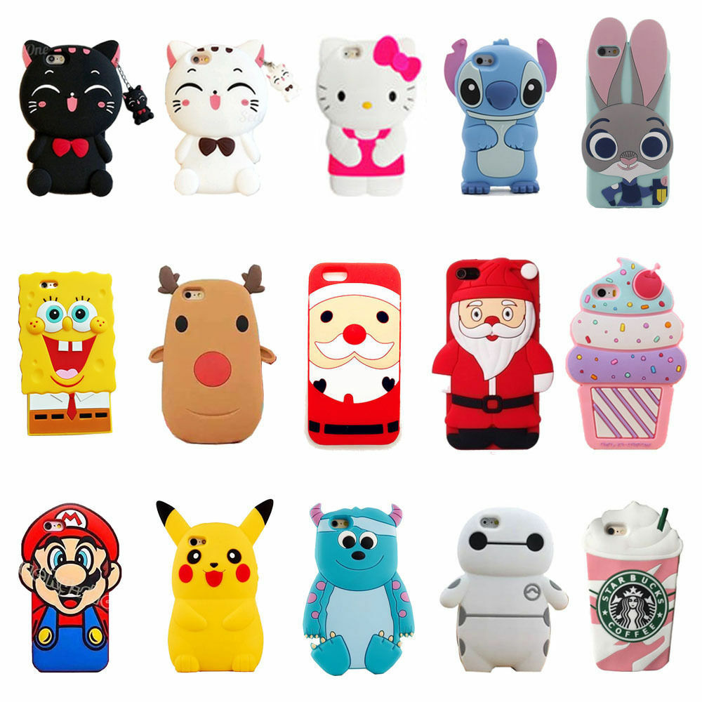 cute iphone 4s cases 3d silicone skin cover for 1782
