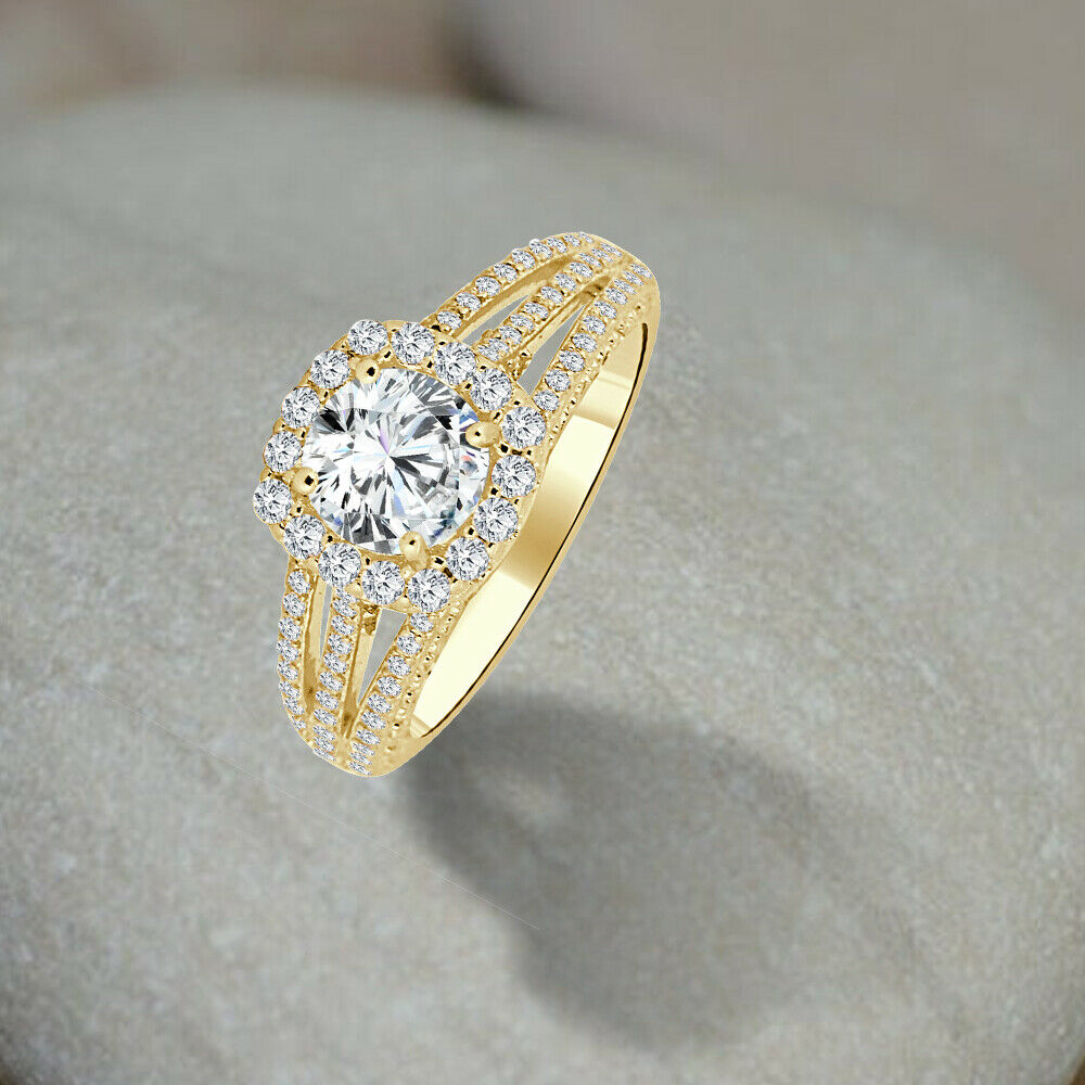 3 50 Carat Round Engagement Wedding Ring 18k White Gold