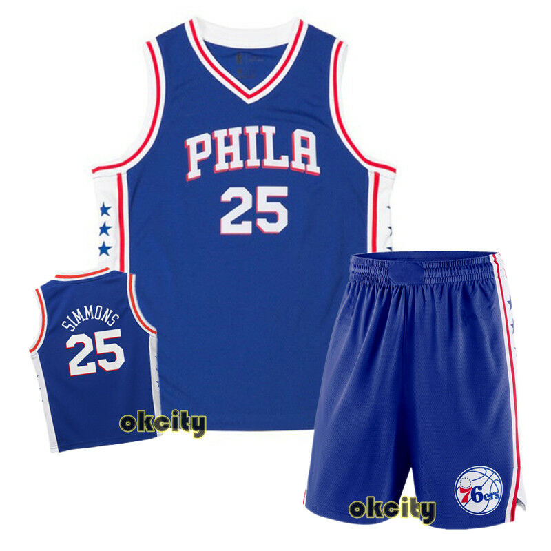 Details about Top   Shorts Ben Simmons 25 Philadelphia Sixers 76ers NBA  Youth Child Kid Jersey 3be906b7b