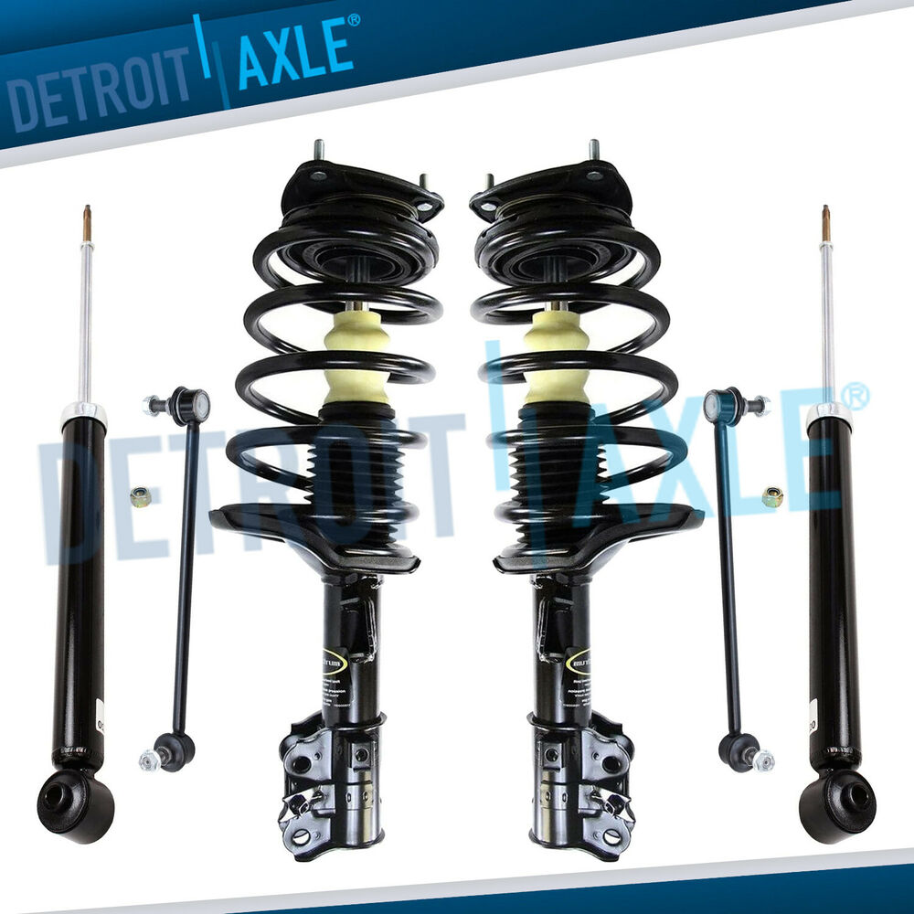 2008 Hyundai Accent Suspension: (6pc) Front Strut Sway Bar Link Rear Shock For 2006-2011