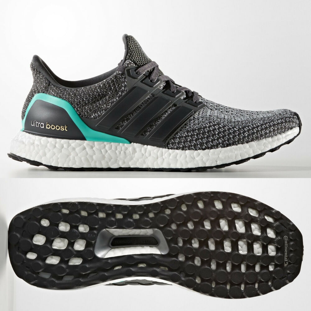 25ed7ca52 adidas Ultra Boost Mens Grey Shock Mint Running Shoes Trainers AQ5931 ALL  Sizes