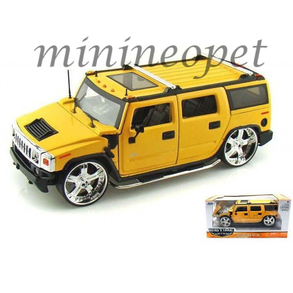 Details About Jada 90403 Hummer H2 Suv 1 24 Cast Model Car Yellow