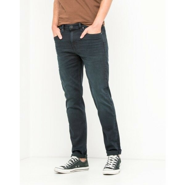 c117279b Details about Lee Arvin Blue Black Night Tapered Stretch Jeans RRP £85  (SECONDS) L161