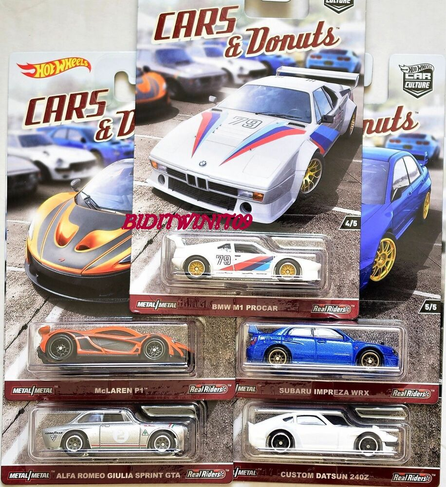 hot wheels 2017 car culture cars donuts set of 5 datsun. Black Bedroom Furniture Sets. Home Design Ideas