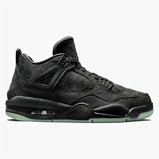 9c29e5520df Details about KAWS x Air Jordan 4 Retro Black/Black Clear Glow Size 12 NEW  IV nike