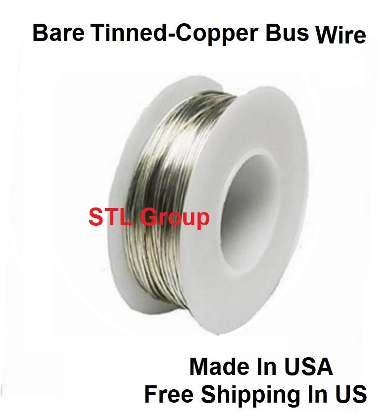 20 AWG Solid Bare Tinned-Copper Bus Wire 1/4 Lb 78 Ft Spool ...