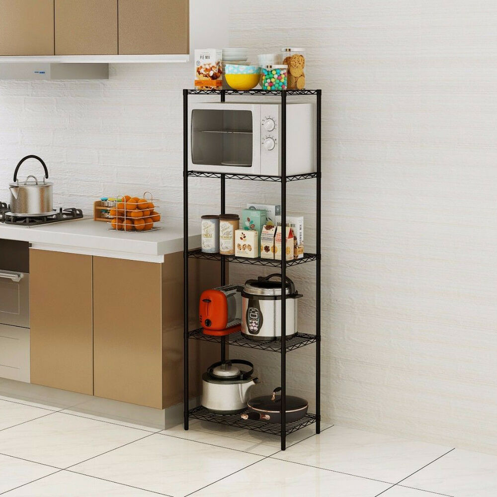 Wire Shelving 5 Tier Metal Storage Rack Shelf 5 Shelf