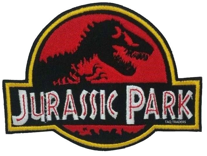 Large Jurassic Park Embroidered Logo Patch Badge Iron On Sew On Ebay