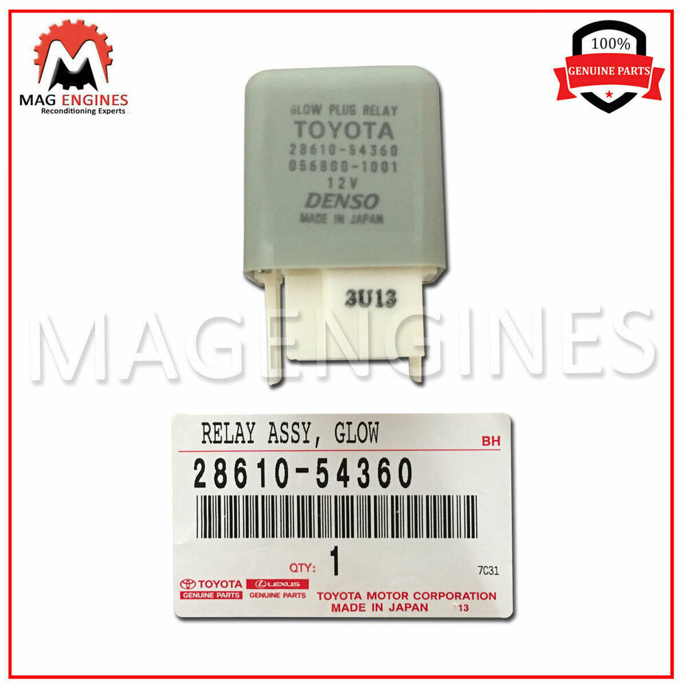 28610 54360 Toyota Genuine Glow Plug Relay Assy For Hilux Land Possibly Related To Quotled Flasher Using Transistorquot Circuits Cruiser Ebay