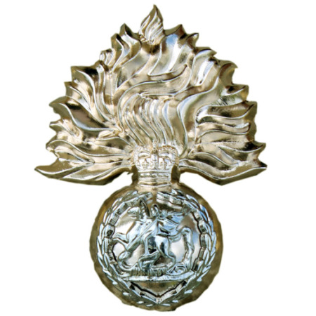 img-ROYAL REGIMENT OF FUSILIERS RRF CAP BADGE BRITISH ARMY MOD NSN ISSUE-NEW