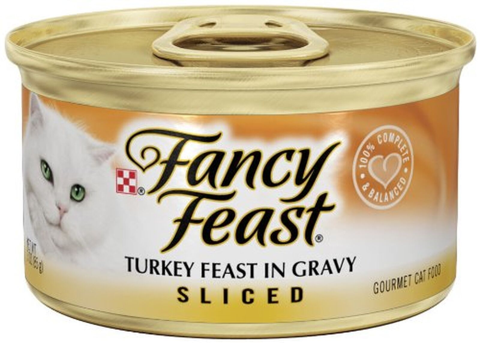 Purina Fancy Feast Sliced Gourmet Wet Cat Food - (24) 3 Oz. Cans Turkey