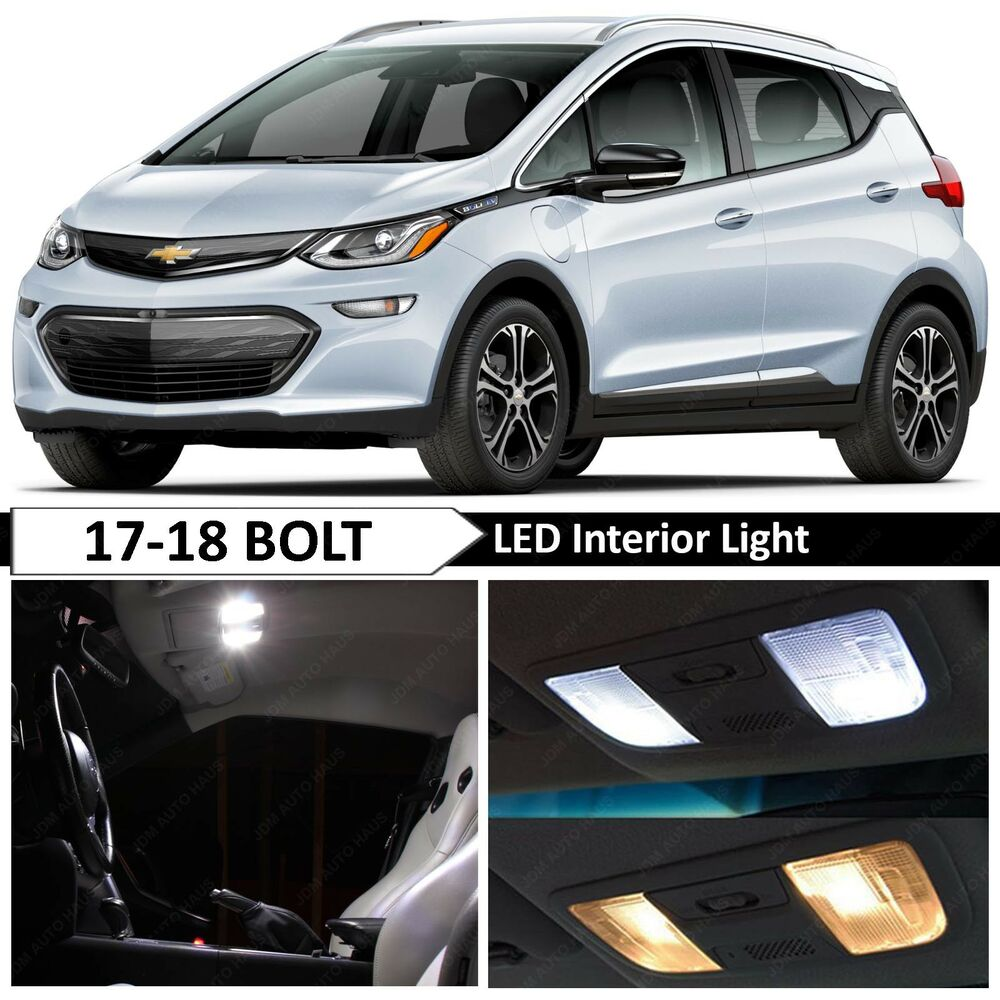 Details About White Interior License Plate Led Lights Package For 2017 2018 Chevy Bolt